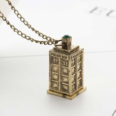 Vintage Jewelry Doctor Who 3D Antique Silver/Bronze Tardis Police Box – I Be Stylin