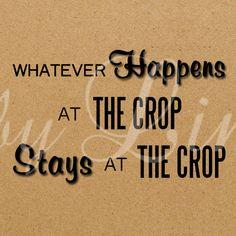 Quote scrapbook crop