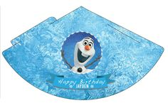 Frozen template party hat   Www.ggpartystore.com