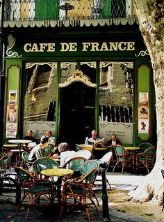 Café de France ~ Paris Paris Chinese New Year's gives Paris' city hall an eastern touch. Paris Tuscan Door Photograph Italy Photography It. Oh Paris, I Love Paris, The Places Youll Go, Places To Visit, Sidewalk Cafe, French Cafe, Paris Ville, Oui Oui, Cafe Restaurant