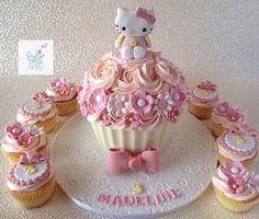 Hello Kitty Inspired Giant Cupcake