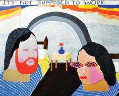"Saatchi Art Artist Kelly Puissegur; Painting, ""It's Not Supposed to Work"" #art"