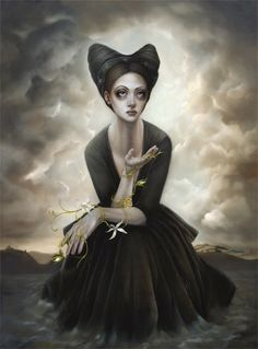 Sarah Dolby Though an intriguing face glimpsed in the street is often enough to trigger Sarah Dolby's paint-brush, the ethereal feminin. Dark Photography, Gothic Art, Art Portfolio, Looks Cool, Limited Edition Prints, Artist Painting, Dark Art, Female Art, Fairy Tales
