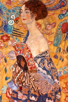 Lady with a Fan Print by #Gustav Klimt at #Art.com - got it