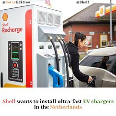 Shell wants to install ultra-fast EV chargers in the Netherlands. Global infrastructure services firm AECOM said that Shell Retail has hired it to deliver ultrafast electrical vehicle (EV) chargers across the Netherlands. A total of 200 fast chargers  under the brand name Shell Recharge - will be available at Shell forecourts (filling stations). According to RenewableEnergyWorld The 150-kW ultra-fast chargers will charge vehicles within 15 minutes making them three times faster than the… Electric Vehicle, Electric Cars, Ev Charger, Filling Station, Netherlands, Solar, Shell, Retail, Times