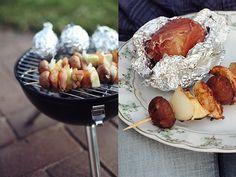 Hähnchenspiesse & Grillkartoffeln