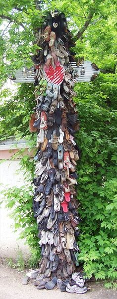 Shoe Totem Tree - Boulder, Colorado. Just one of the funky things you can find around Boulder!