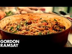 Dinner Ideas With Sausage : Spicy Sausage Rice by Gordon Ramsay - Dinner Ideas With Sausage Video Dinner Ideas With Sausage Gordon demonstrates how to cook this simple rice dish. Gordon Ramsay's Ultimate Cookery Course – Savoury Rice Recipe, Spicy Rice Recipe, Savory Rice, Rice Recipes, Pork Recipes, Easy Recipes, Chicken Recipes, Sausage Meat Recipes, Sausage Rice