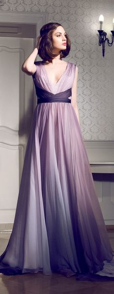 Daalarna evening dress. Could be a gorgeous Purple Ombré Long Bridesmaid Dress.