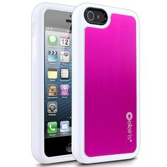 Cellairis Rapture  Elite Aluminum -White/Hot Pink iPhone 5 Case - www.cellairis.com