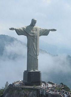 New world wonder - Christ the Redeemer statue in Rio de Janeiro, Brazil.