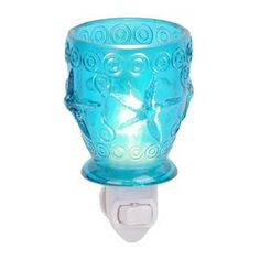 Turquoise Starfish Glass Night Light | Kirkland's!!! PERFECT for the kids mermaid and under the sea/pirate bathroom!!!!!