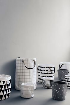 Grid Laundry Basket Tvättkorg | ferm LIVING | via Länna Möbler