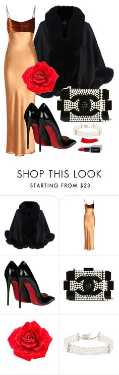 """""""Untitled #49"""" by norathelemon ❤ liked on Polyvore featuring Harrods, Acne Studios, Christian Louboutin, Chanel, Johnny Loves Rosie and Kenneth Jay Lane"""