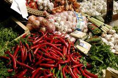 Chillies and garlic