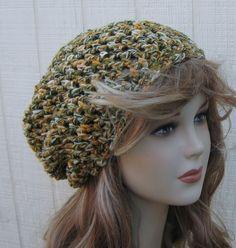 Maize Field Hippie Dread Tam Hat Slouchy by PurpleSageDesignz