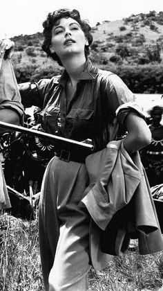Ava Gardner - Let me show you what I see: Mogambo (John Ford, Ava Gardner, Rita Hayworth, Divas, Jean Harlow, Old Hollywood Stars, Classic Hollywood, Grace Kelly, Brigitte Bardot, Hollywood Actresses