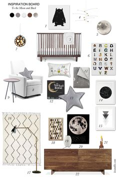 Lex and Liv - Design for Kids: Inspiration Board: To the Moon and Back featuring the Monte Design Grano Glider Recliner