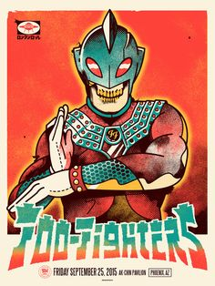 Foo Fighters gig poster by Ivan Minsloff
