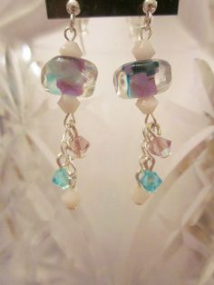 Multicolored+Lampwork+Glass+Handmade+by+CreationsbyCynthia1,+$19.99
