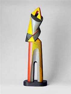 Architectural Figure, 1950. Alexander Archipenko (1887-1964) was a Ukrainian avant-garde artist, sculptor, & graphic artist.  Archipenko, along withJoseph Csaky, exhibited at the 1st public manifestations of Cubism in1910 being the 1st, after Picasso, to use the Cubist style in 3 dimensions. He departed from the neo-classical sculpture of his time, using faceted planes and negative space to create a new way of looking at the human figure.