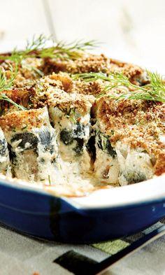 Kallen silakkarullat   Maku Kermit, Quiche, Nom Nom, Seafood, Food And Drink, Baking, Vegetables, Breakfast, Recipes