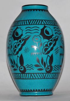 RARE Unusual Keramis Vintage Art Deco Charles Catteau Pottery Vase Belgium 899 | eBay