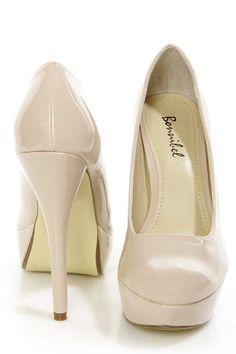 Bonnibel Monique 1N Blush Patent Platform Pumps - $29.00