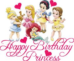 Birthday Greeting Cards: Disney Princess Birthday Cards