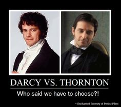 Darcy vs. Thornton  #Colin Firth #Richard Armitage  Vote here if you must! https://www.facebook.com/Period.Drama?sk=questions