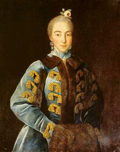 """A lady"" - Ivan Argunov, 1768"
