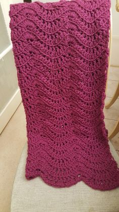Chunky crochet waive pattern