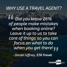 YOU TELL US! Why should anyone use a Travel Agent? @STAtravelAU #travel #agents #quote