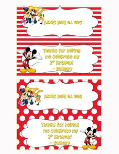 Mickey Mouse Clubhouse Birthday Party Treat