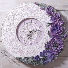 1 million+ Stunning Free Images to Use Anywhere Plaster Sculpture, Plaster Art, Sculpture Painting, Wall Sculptures, Clock Craft, Diy Clock, Cold Porcelain Flowers, Ceramic Flowers, Vintage Diy