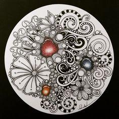 Zentangle Gems - ZIA011717. Artwork from Rebecca Kuan - #rebeccasecretbox Welcome to visit my FB Page: http://www.facebook.com/Rebecca.Zentanglebox/ #zia #zentangle #zendoodle #doodle #doodleart #draw #drawing #tangle #art #artwork #sketch #zengems #zentanglegems #gems #zentangleart #zentangleinspiration #learnzentangle #zenart #hearttangles