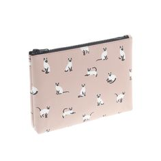 J.Crew women's printed pouch in warm stone.