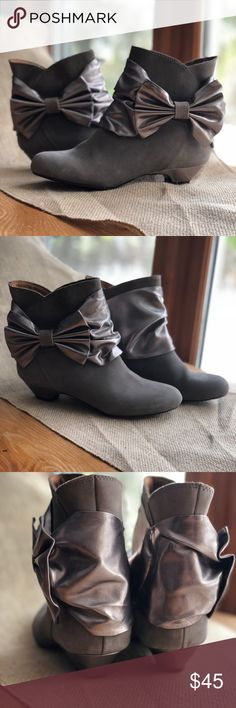 Poetic License Poetic Licence Leather Booties Love these little Booties! Hardly worn, maybe once or twice. Perfect condition!  *note* the brand Poetic Licence is actually spelled incorrectly, this is why the spelling does not match on this listing vs. the brand category Poetic License Shoes Ankle Boots & Booties