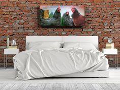 The Ladies Backyard Chicken Pet Portrait 10x22 by JensHappyHens
