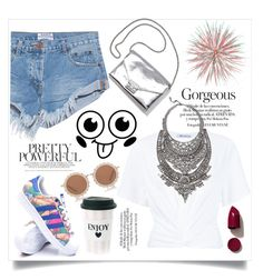 """""""💎Big Necklace😎"""" by aumnea ❤ liked on Polyvore featuring One Teaspoon, T By Alexander Wang, DYLANLEX, adidas, Loeffler Randall, House of Holland and NARS Cosmetics"""
