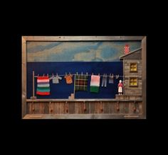 """Laundry Day"" Wooden Wall Art  by Ben Ploughman"