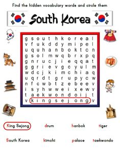 https://www.teacherspayteachers.com/Product/Korea-Themed-Activity-Set-Worksheet-Packet-Flashcards-2882084 Korean Themed Activities for kids.