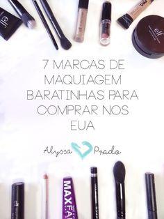 7 Marcas de Maquiagens Baratinhas