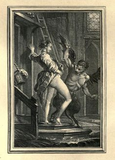 "lilliesandremains: "" Perretta Frightens the Demon - by Charles-Dominique-Joseph Eisen (ca. 1700s) """
