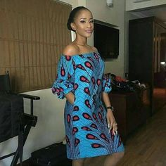 Items similar to African off-shoulder kneel-length dress with two sides pocket, ankara print, African clothing on Etsy Short African Dresses, Ankara Short Gown Styles, Short Gowns, African Print Dresses, African Fashion Ankara, Latest African Fashion Dresses, African Print Fashion, Africa Fashion, 70s Fashion
