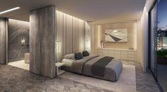 dormitorio con iluminación preciosa
