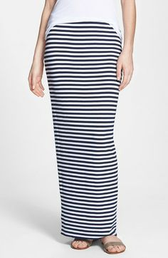 Bailey 44 'Shin Guard' Stripe Maxi Skirt available at #Nordstrom. www.estrellascloset.com- fashion blog