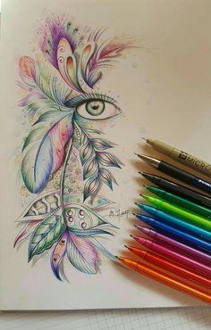 Martina arend zentangle ball point pen art inspiration in 2019 skizze ideen Doodle Drawings, Doodle Art, Pencil Drawings, Sketch Art, Drawing Sketches, Sketching, Drawing Ideas, Zentangle Pens, Zentangles