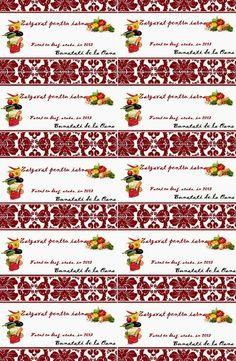 Etichete borcane - zarzavat pentru iarna Jar Labels, Objects