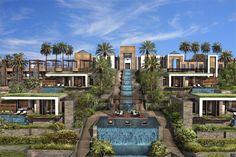 hotel architecture The Ritz-Carlton Tamuda Bay Beach Hotels, Beach Resorts, Hotels And Resorts, Hotel Architecture, Architecture Details, Jungle Resort, Desert Resort, Modern Villa Design, Hotel Concept